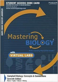 Amazoncom Masteringbiology With Masteringbiology Virtual