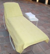 Outdoor Chair Covers with Pads (Green Stripe-Decorative ...
