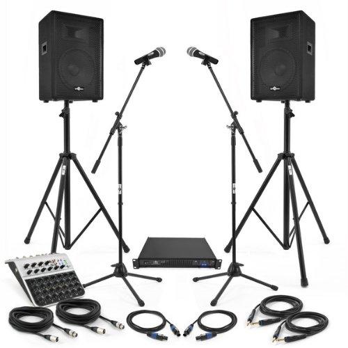 Pack Systme De Sonorisation 300W Avec Mixeur Stands Et