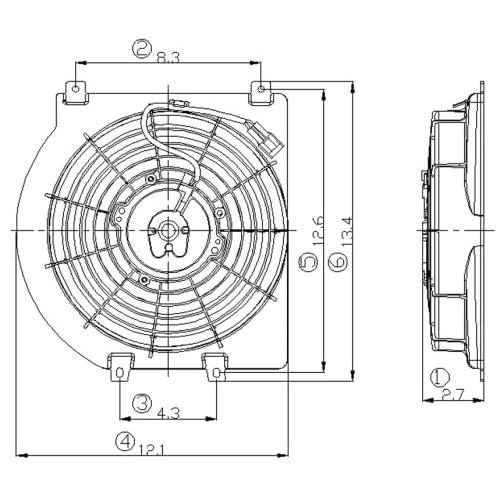98-05 ISUZU RODEO A/C Condenser Cooling Fan Shroud