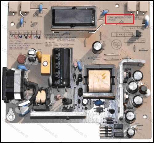 Replacement Parts Only Viewsonic VG2021m TV//LCD Monitor Capacitor Repair Kit