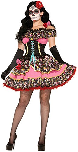 Women's Day Of Dead Senorita Costume