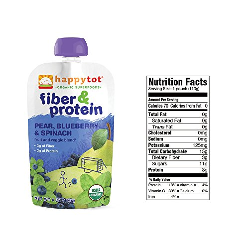 Happy Tot Organic Superfoods Fiber Protein Stage 4 Baby