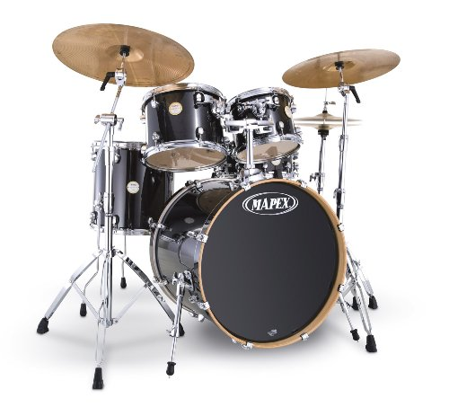 Lowest Price Mapex Meridian Fusionease 5 Piece Drum Set Transparent