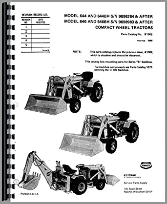 Case 646 Lawn & Garden Tractor Parts Manual: Amazon.com