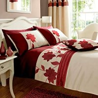 Clarissa Red Super King Size Duvet Cover Set Embroidered ...