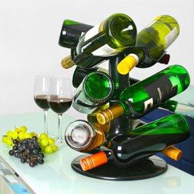 Drehbares 9 Flaschen-Weinregal von bar@drinkstuff | Drehbares Weinflaschenregal, Weinkarussell, Flaschenkarussell, Weinregal, Flaschenregal