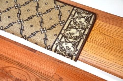 Dean Modern Diy Bullnose Wraparound Non Skid Carpet Stair Treads   Non Slip Carpet For Stairs   Trim   Laminate   Wood End Cap   Step   Rubberized