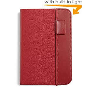 "Kindle Lighted Leather Cover, Burgundy Red (Fits 6"" Display, Latest Generation Kindle)"