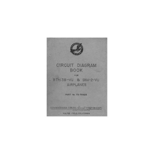 small resolution of vultee bt 13 snv 2 aircraft circuit diagram manual vultee books