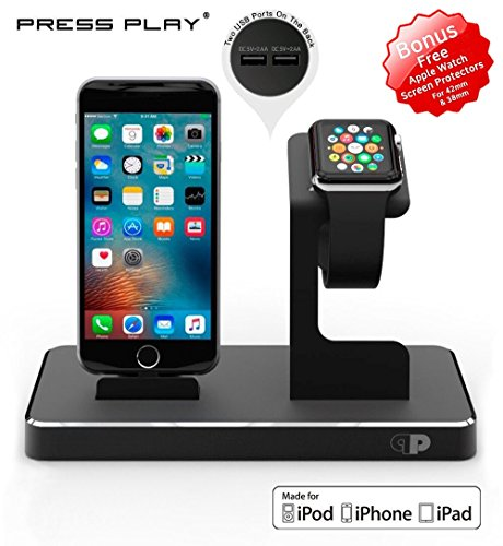 ONE Dock APPLE CERTIFIED Power Station Dock, Stand & Charger for Apple Watch Smart Watch, iPhone, iPad and iPod