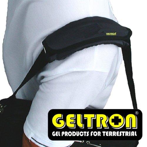 【GELTRON】 国産 ショルダーパッド (あらゆるバッグ・ベルトに使用OK!) Mサイズ (長さ23.5cm/対応ベルト幅最大5.5cm) パール