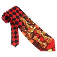 Amazon.com: Red Microfiber Tie | Chess Necktie: Clothing