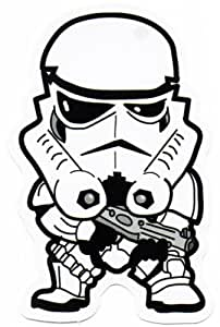 STAR WARS Chibi Storm Trooper Sticker for Skateboards