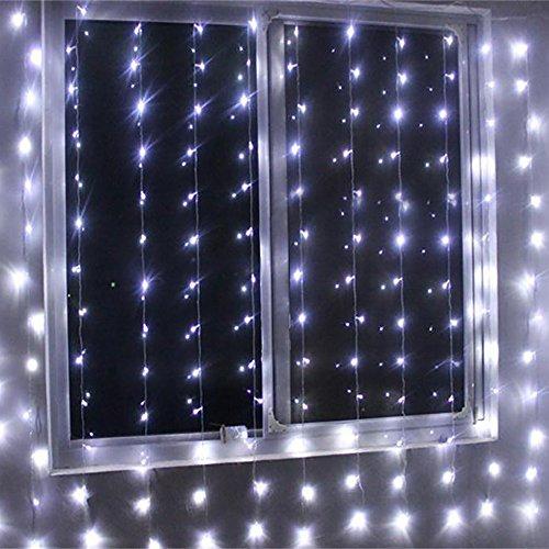 Echosari 1000 LED Curtain Lights Indoor Amp Outdoor Christmas Party Wedding Decorations Fairy