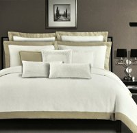 Tahari Stone Washed Pure Linen Luxury Duvet Cover 3pc ...