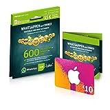 WhatsApp SIM Prepaidkarte und 10 Euro iTunes Geschenkkarte