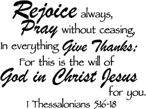 Amazon.com: Rejoice always, Pray without ceasing, in