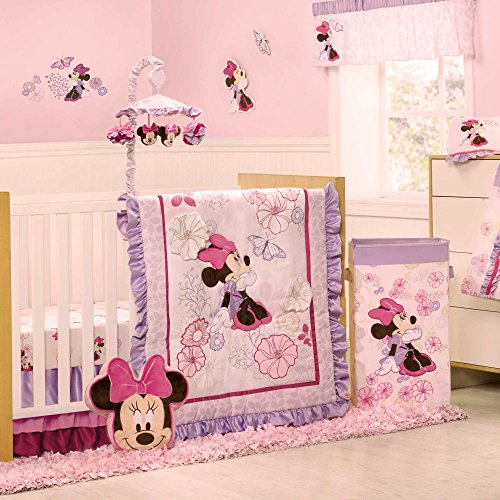 Minnie Mouse Butterfly Dreams 4 Piece Baby Crib Bedding Set by Kidsline