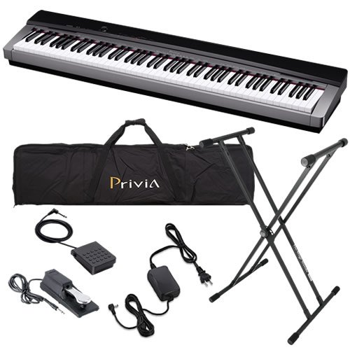 Casio PX-130 Digital Piano STAGE BUNDLE w/ Travel Bag, Stand & Pedals