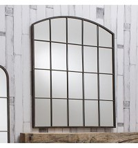 Rockford Large Vintage Metal Arched Window Overmantle Wall ...