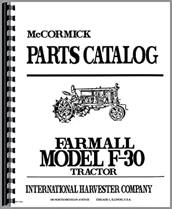 Farmall F30 Tractor Parts Manual: Amazon.com: Industrial