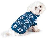 Sweaters Nordic Dog Winter Sweater, Blue, Medium ...