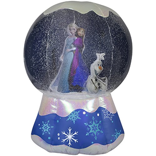 christmas inflatable 6 frozen snowglobe w photorealistic annaelsa olaf - Disney Inflatable Christmas Decorations