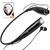 Wireless Bluetooth Stereo Headphones by Chirotronix - HBS730 - Black Hands Free Headset with Microphone - Comfortable Earbuds Stay in Ears - Great for the Gym, Running, Walking, Biking, Gardening, Working out, TV Listening, Driving, Airplane Travel - For iPhone, Samsung, HTC, LG, Nokia, Verizon, Sprint, AT&T, iPad, iPod, PC, PS3 - Best 100% Money Back Satisfaction Guarantee