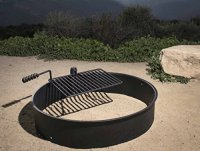 36 Steel Fire Ring with Cooking Grate Campfire Pit Park
