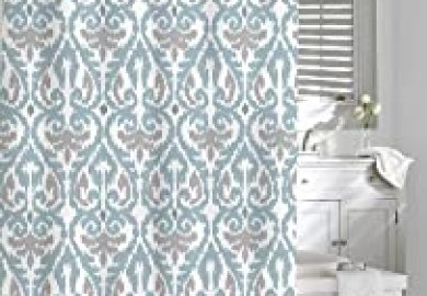 Amazon Shower Curtain Gray Blue