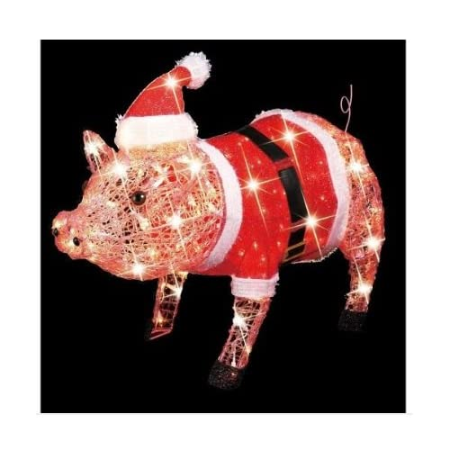 Fabulous Outdoor Lighted Christmas Pig Decoration 500 X 34 Kb Jpeg