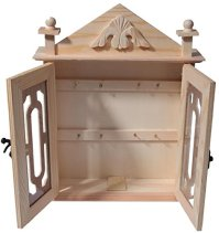 Wooden Key Box / Organizer - Brown Wood Key Rack Cabinet ...