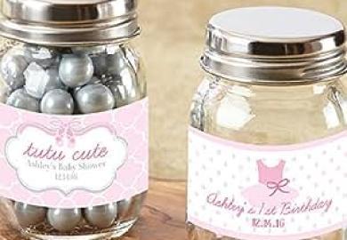 Personalized Mini Mason Jar Tutu Cute Set Of 12 Baby
