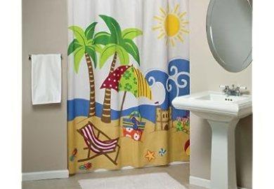 Beachy Shower Curtains