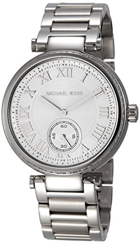 michael kors skylar silver dial stainless steel ladies watch mk5866,video review,(VIDEO Review) Michael Kors Skylar Silver Dial Stainless Steel Ladies Watch MK5866,