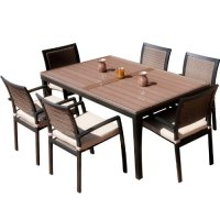 RST Brands OP-ALTS7-ZEN Dining Set Patio Furniture, 7 ...