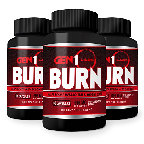 Best Thermogenic Fat Burner Weight Loss Pills That Work for Men and Women. Increase Metabolism Energy and Appetite Control. Lose Weight and BURN Belly Fat Fast w/ Caffeine, Chromium and Green Tea 60ct