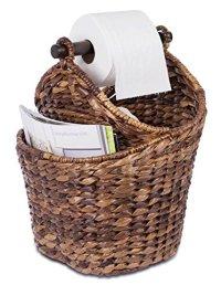 BirdRock Home Seagrass Magazine and Bathroom Basket | Hand ...
