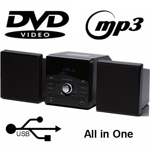 MEDION MD 82990 DVD Micro System USB MP3 Radio RDS OSD Scart S-Video AUX Mute Kindersicherung ° 2 x 12 Watt RMS ° PLL UKW ° 16:9