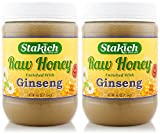 Stakich GINSENG Enriched RAW HONEY 5-LB - 100% Pure, Unprocessed, Unheated -