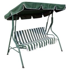 Swing Seat Johannesburg Dining Room Chairs With Leather Seats Other Home & Living - 3 Seater Garden Patio Chair Hammock Green White Striped Was ...