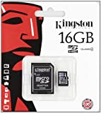 Kingston 16 GB Class 4 MicroSDHC Flash Card with SD Adapter SDC4/16GB