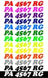 Custom Boat or PWC Registration Hull ID Decal Sticker Set of 2