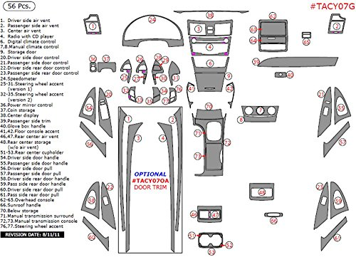 WOW Trim TACY07G-RBBCF Toyota Camry Without Navigation