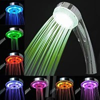 LED Bathroom Shower Head - Lights up in 7 Colors with ...