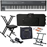 Kurzweil SP4-8 Stage Piano STAGE BUNDLE w/ Keyboard Amp, Case & Stand