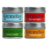 GourmEGG Spices - 4 Flavor Spice Gift Set - Gourmet Seasonings for the Curious