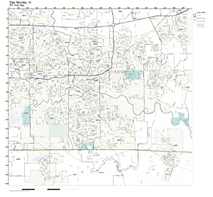 Amazon.com: ZIP Code Wall Map of Des Moines, IA ZIP Code