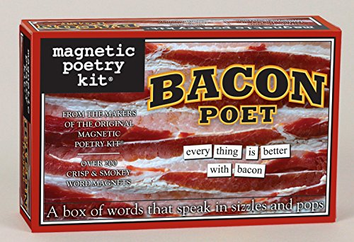 Magnetic Poetry - Bacon Poet Kit - Words for Refrigerator - Write Poems and Letters on the Fridge